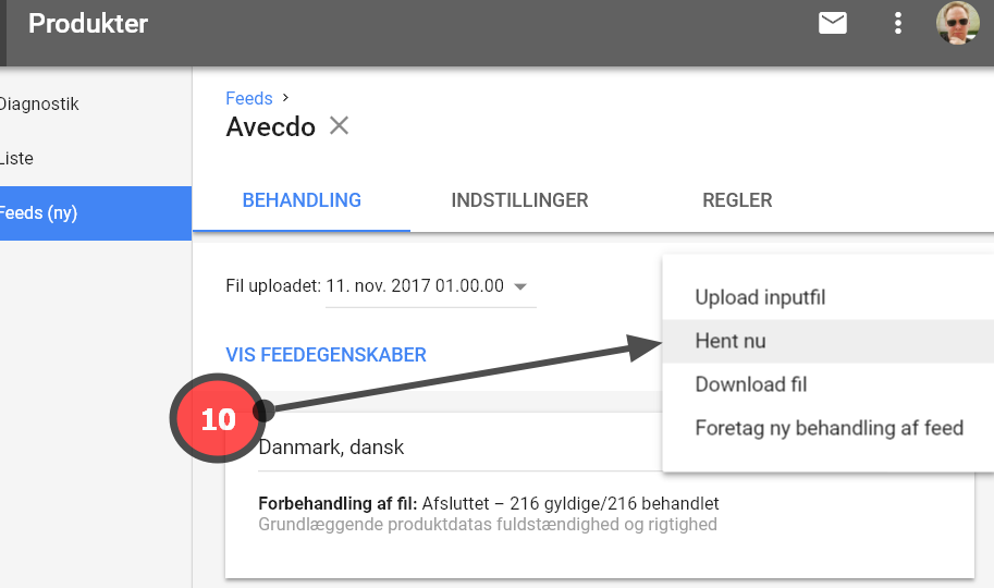 gen fetch data fra Google Shopping Feed