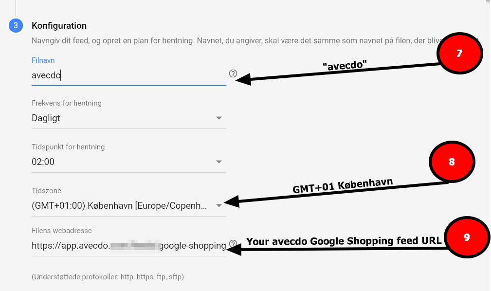 google shopping konfigurer