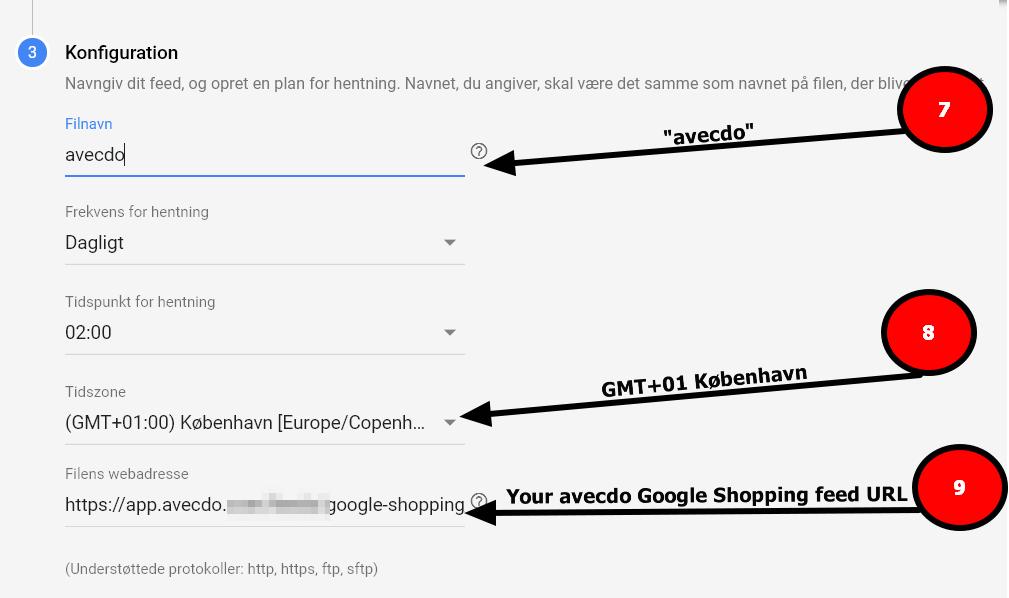 google shopping konfigurer