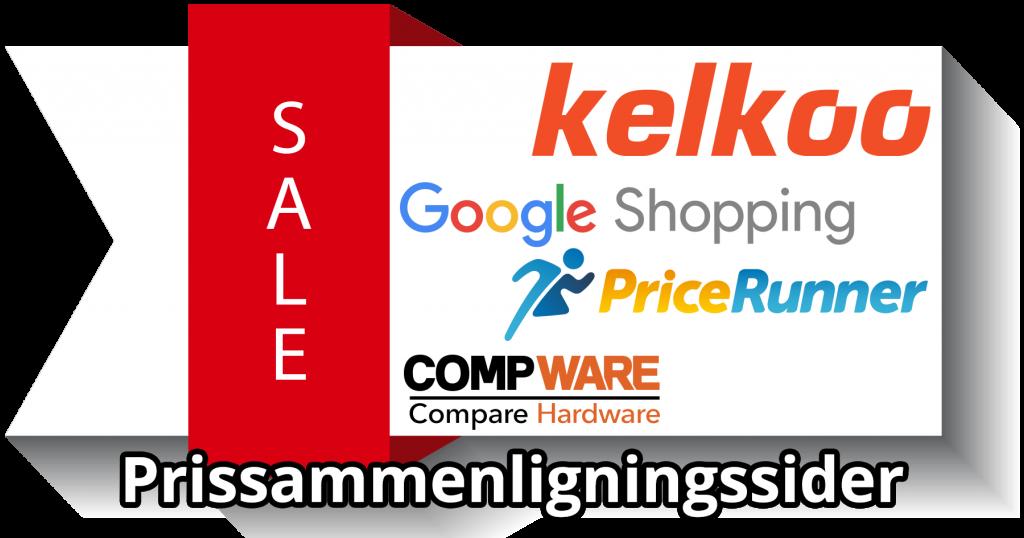 Prissammenligningssider - Kelkoo, Pricerunner, Google Shopping og Compware