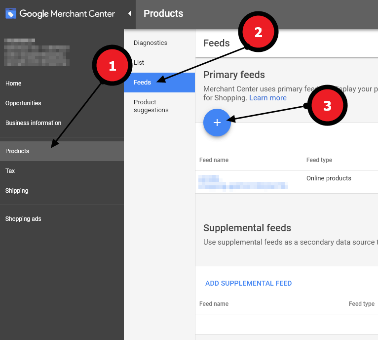 Merchant Center uses primary feeds to display your products on Google. Use primary feeds to upload your product data to Merchant Center using text (.txt) files, XML (.xml) files, Google Sheets, or the Google Content API for Shopping